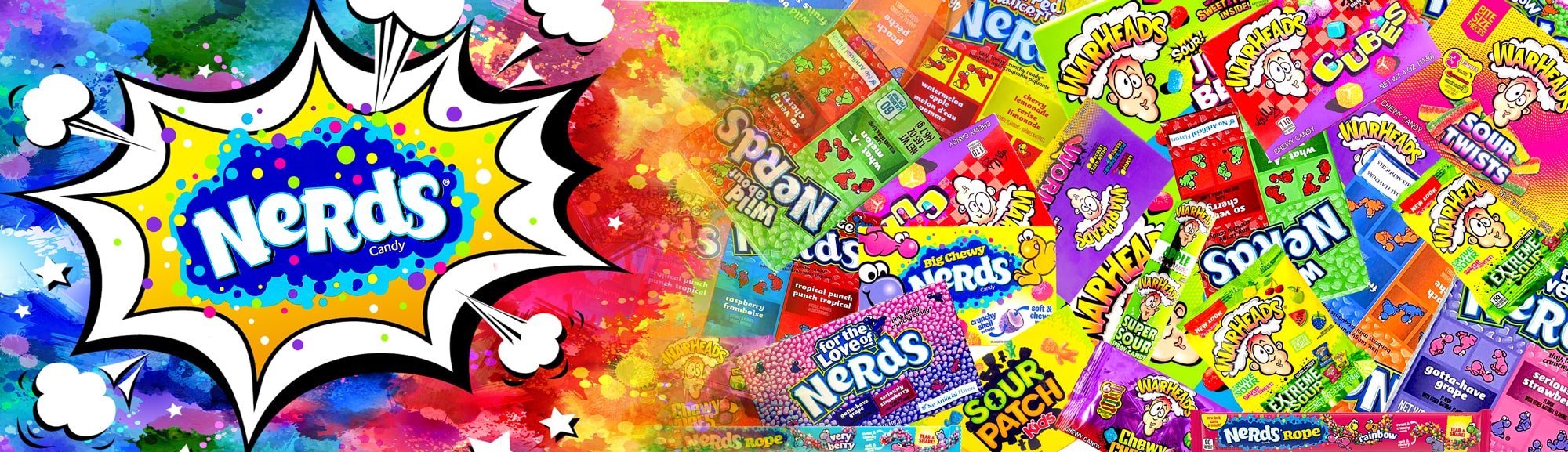 nerds konfektes saldumi